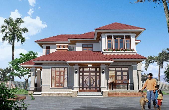 Ngắm 20 mẫu biệt thự nhà vườn 1-2 tầng đẹp mới nhất 2018 - Ảnh sưu tầm 07