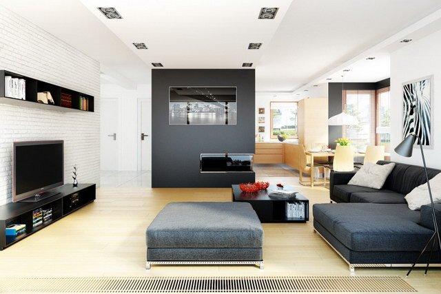 Không gian nội thất phòng khách - Mẫu nhà biệt thự vườn mini 2 tầng 10x15m tại vùng quê