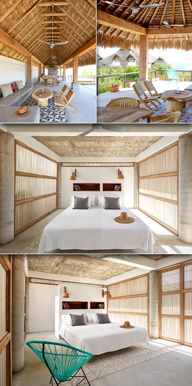 Không gian trong nhà - Hút hồn với căn biệt thự mái lá 2 tầng ven biển cực đẹp