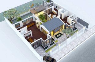 Không gian nhà biệt thự 1 tầng cực chất tại Hà Nội