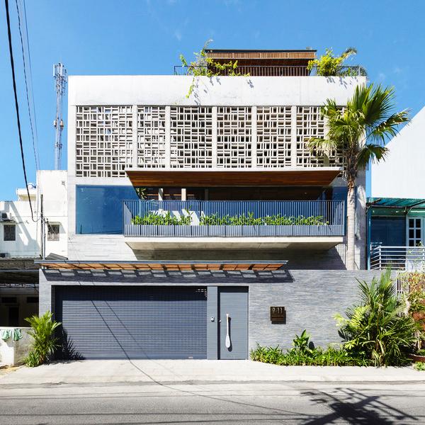 Kiến trúc mặt tiền - Không gian nhà phố đẹp hiện đại tại Sài Gòn