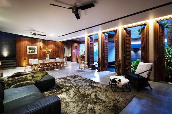 Không gian nhà phố đẹp hiện đại tại Sài Gòn - Không gian phòng khách