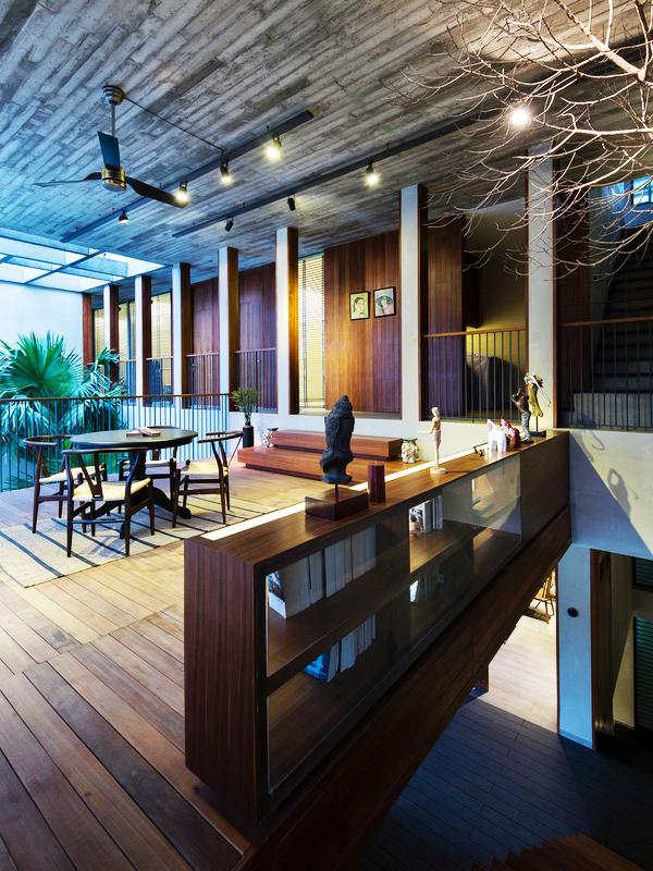 Không gian nhà phố đẹp hiện đại tại Sài Gòn - Không gian quầy bar