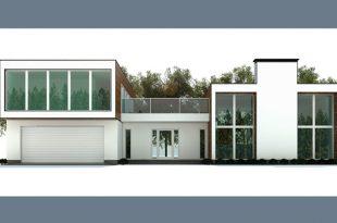 Phối cảnh kiến trúc 01 - Mẫu biệt thự 2 tầng 21x15m hiện đại