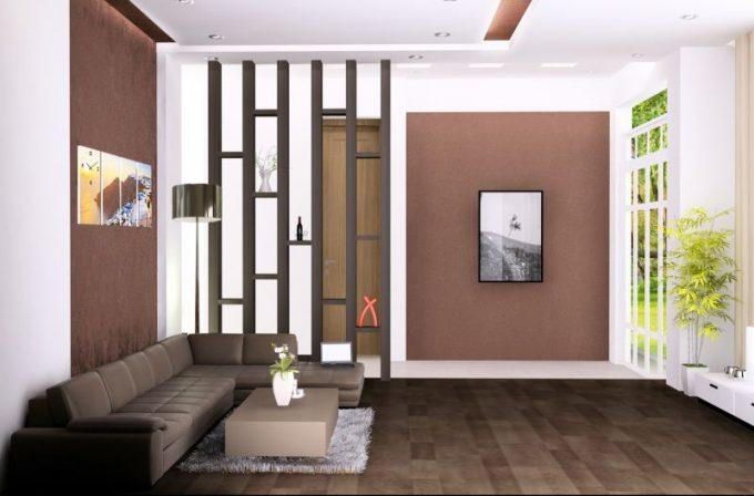 Không gian phòng khách - Ngắm nhìn mẫu biệt thự vườn mini 1 tầng cực xinh