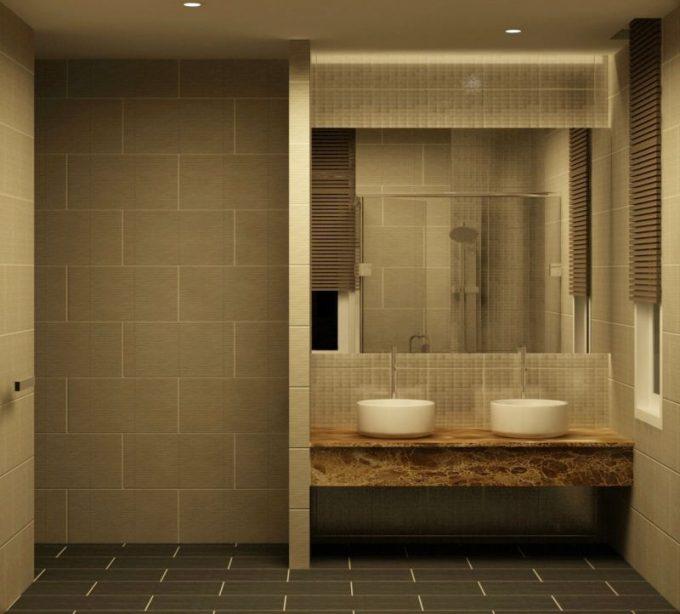 Không gian phòng tắm+wc - Ngắm nhìn mẫu biệt thự vườn mini 1 tầng cực xinh