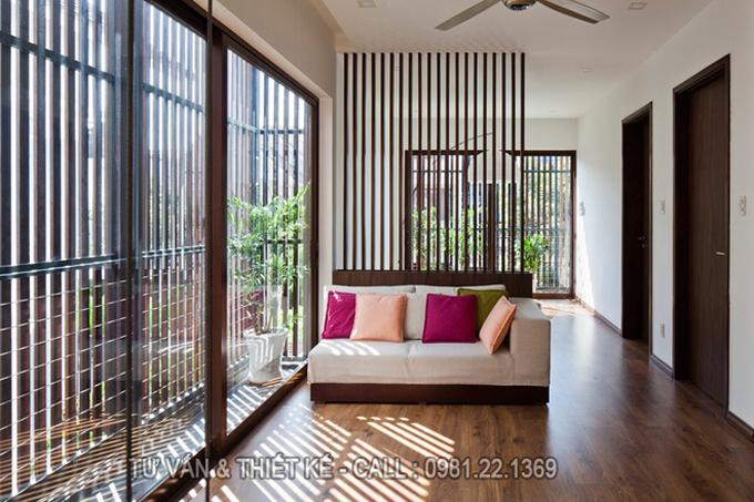 Mẫu nhà phố 2 tầng hiện đại với lam chắn nắng thông minh - Không gian nội thất trong nhà