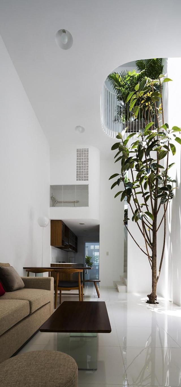 Nhà phố 4 tầng 3,5x12m thoáng mát với thiết kế thông minh - Không gian trong nhà 01