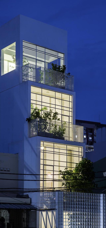 Phối cảnh kiến trúc 02 - Nhà phố 4 tầng 3,5x12m thoáng mát với thiết kế thông minh