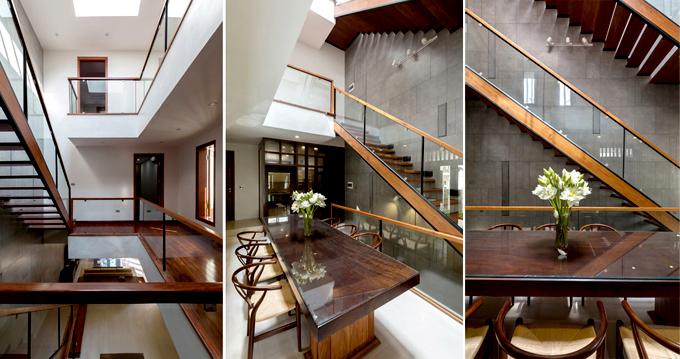 Không gian nội thất 02 - Nhà phố lô góc 3 tầng 1 hầm mặt bằng chữ L hiện đại
