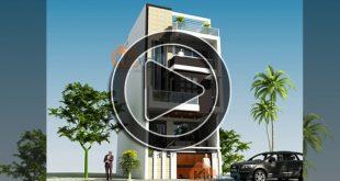 Phim 3D mẫu nhà phố đẹp 4 tầng 6,3x11m tại Đông Anh