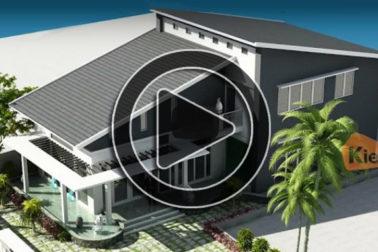 Phim 3D mẫu nhà biệt thự vườn 2 tầng tại Thái Bình