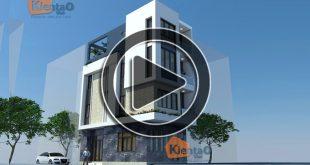 Phim 3D thiết kế nhà phố 4 tầng 5,3x9,7m tại Hà Nội