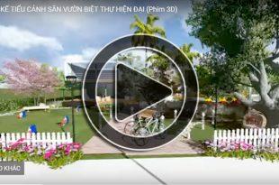 Phim 3D thiết kế sân vườn biệt thự hiện đại