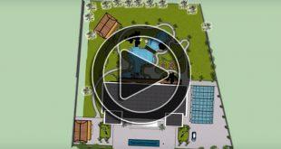 Phim 3D thiết kế cảnh quan sân vườn khu nghỉ dưỡng