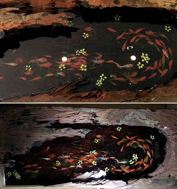 Tranh 3D hồ cá Koi 1,1 tỷ cho nhà biệt thự đẹp - 03