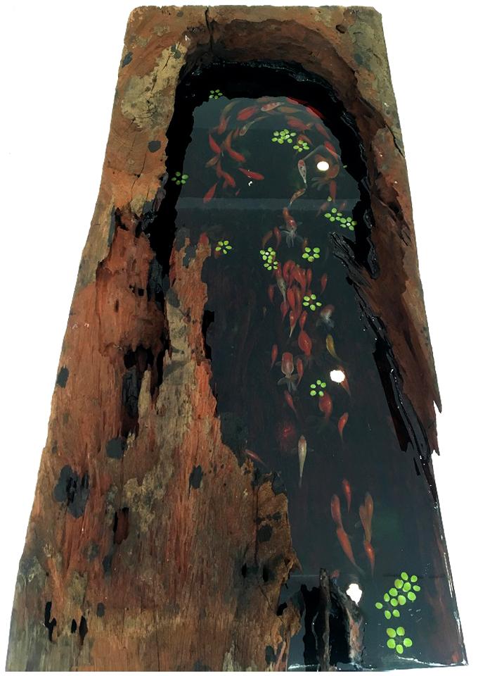 Tranh 3D hồ cá Koi 1,1 tỷ cho nhà biệt thự đẹp - 04