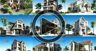 Video 10 bản vẽ nhà biệt thự 2 và 3 tầng đẹp 2018