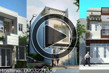 Video 30 mẫu thiết kế nhà phố 2 tầng đẹp 2018