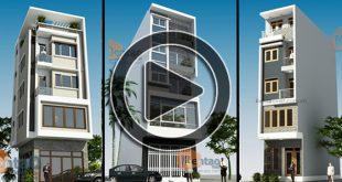 Video 65 thiết kế nhà phố 3 tầng, 4 tầng, 5 tầng hiện đại
