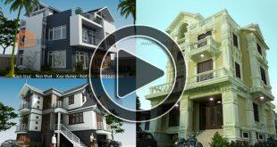 Video bản vẽ thiết kế nhà biệt thự 2 tầng, 3 tầng tổng hợp