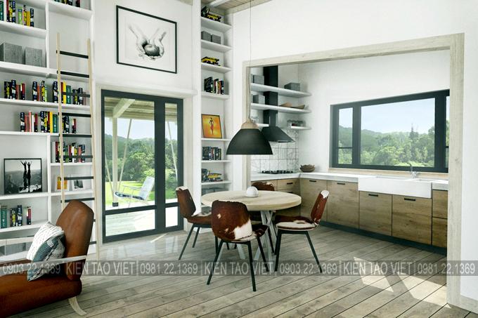 Không gian nội thất 03 - Biệt thự vườn mini 1 tầng 11×10,5m hiện đại
