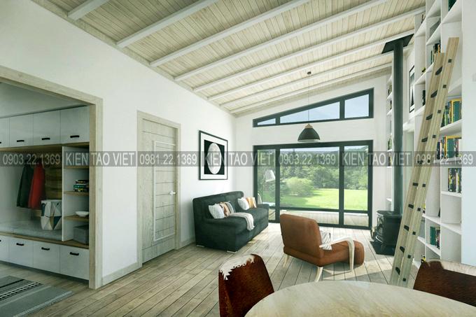 Không gian nội thất 04 - Biệt thự vườn mini 1 tầng 11×10,5m hiện đại