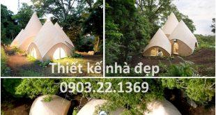 Choáng ! Căn nhà vỏ dừa đẹp đáng yêu như trong cổ tích - Không gian bên ngoài