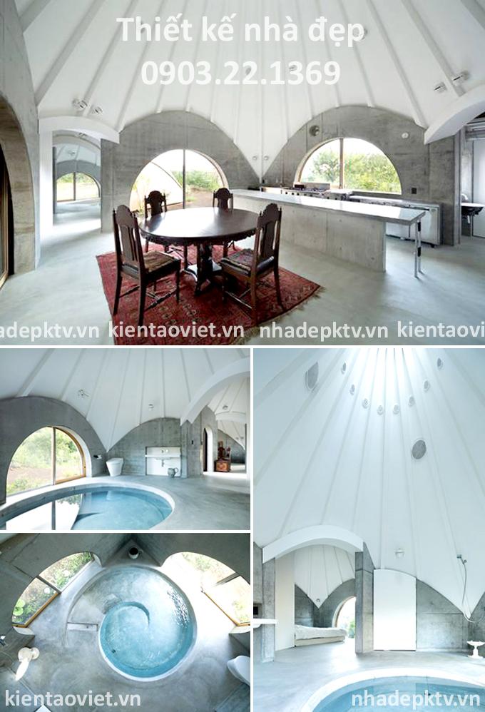 Choáng ! Căn nhà vỏ dừa đẹp đáng yêu như trong cổ tích - Không gian nội thất