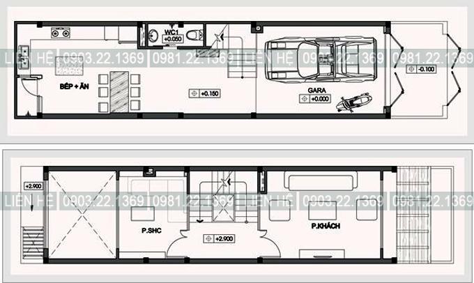 Tham khảo cách chia công năng cho nhà ống 4 tầng 1 lửng 4x15m có gara ô tô, tầng lửng, thoáng hậu - 01