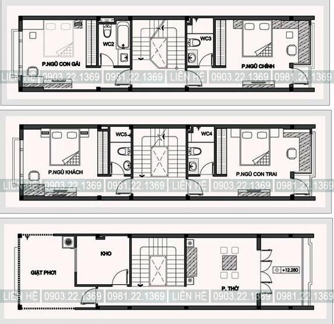 Tham khảo cách chia công năng cho nhà ống 4 tầng 1 lửng 4x15m có gara ô tô, tầng lửng, thoáng hậu - 02