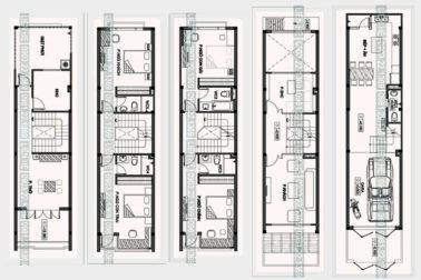 Tham khảo cách chia công năng cho nhà ống 4 tầng 1 lửng 4x15m có gara ô tô, tầng lửng, thoáng hậu