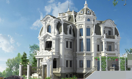 Chiêm ngưỡng 16 mẫu biệt thự cổ điển kiểu Pháp, Châu Âu đẹp đẳng cấp - Mẫu 13