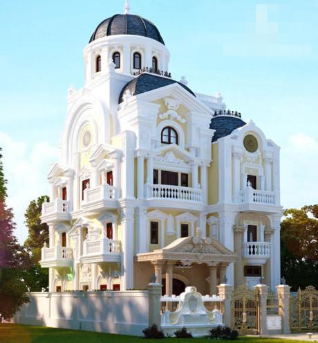 Chiêm ngưỡng 16 mẫu biệt thự cổ điển kiểu Pháp, Châu Âu đẹp đẳng cấp - Mẫu 16