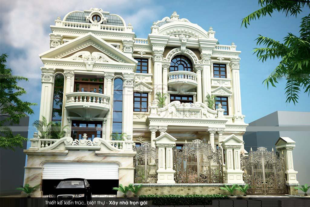 Chiêm ngưỡng 16 mẫu biệt thự cổ điển kiểu Pháp, Châu Âu đẹp đẳng cấp - Mẫu 09