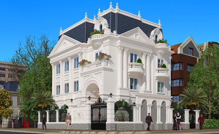 Chiêm ngưỡng 16 mẫu biệt thự cổ điển kiểu Pháp, Châu Âu đẹp đẳng cấp - Mẫu 04