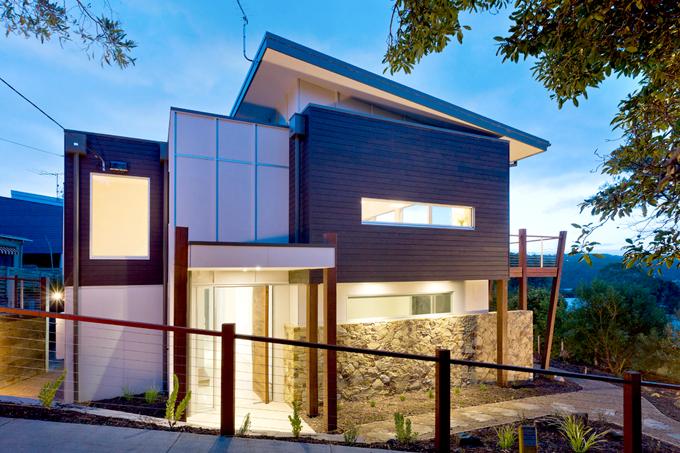 Mẫu biệt thự 2 tầng 13,7x14m hiện đại tại sườn đồi - Hình ảnh kiến trúc 01