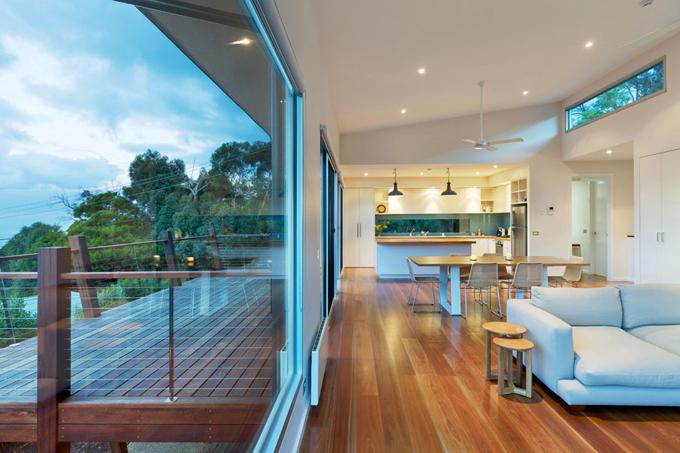 Mẫu biệt thự 2 tầng 13,7x14m hiện đại tại sườn đồi - Không gian nội thất phòng khách 02