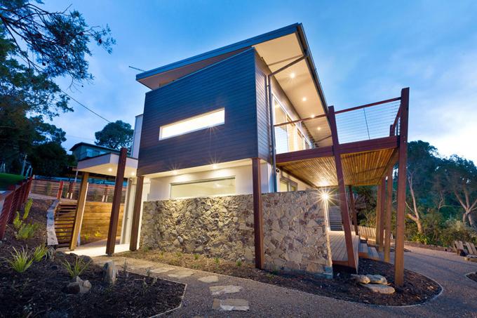 Mẫu biệt thự 2 tầng 13,7x14m hiện đại tại sườn đồi - Hình ảnh kiến trúc 04