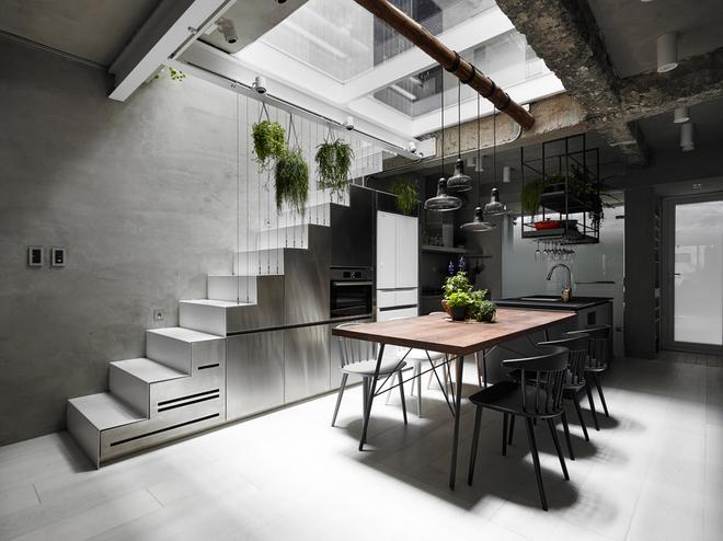 Nhà phố hiện đại 3 tầng 4x10m độc đáo với lam chắn nắng - Không gian nội thất 02