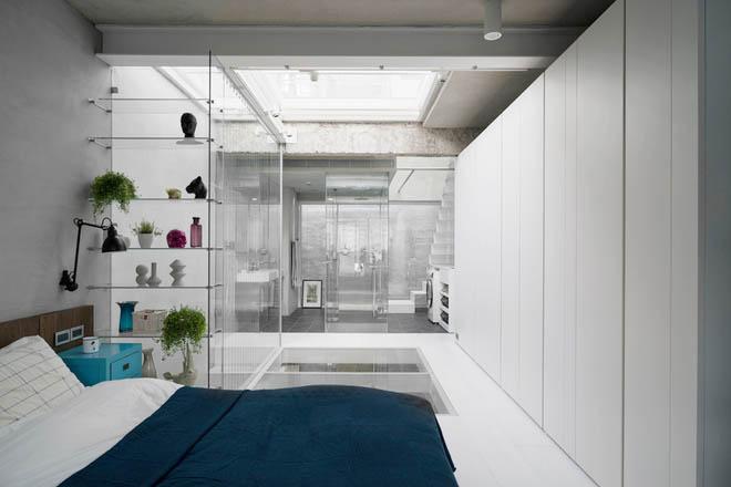 Nhà phố hiện đại 3 tầng 4x10m độc đáo với lam chắn nắng - Không gian nội thất 03