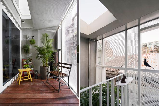 Nhà phố hiện đại 3 tầng 4x10m độc đáo với lam chắn nắng - Không gian nội thất 04