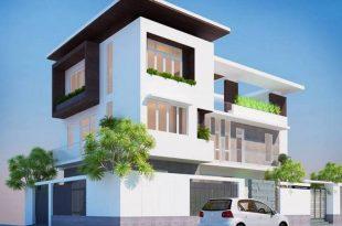 Phối cảnh 01 - Thiết kế biệt thự phố hiện đại 3 tầng 20x10m
