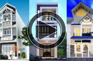 Video 50 mẫu thiết kế nhà ống 2 và 3 tầng đẹp mới nhất 2018