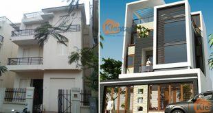 Hiện trạng - Mẫu thiết kế nhà biệt thự 4 tầng đẹp hiện đại 8,7x13,5m