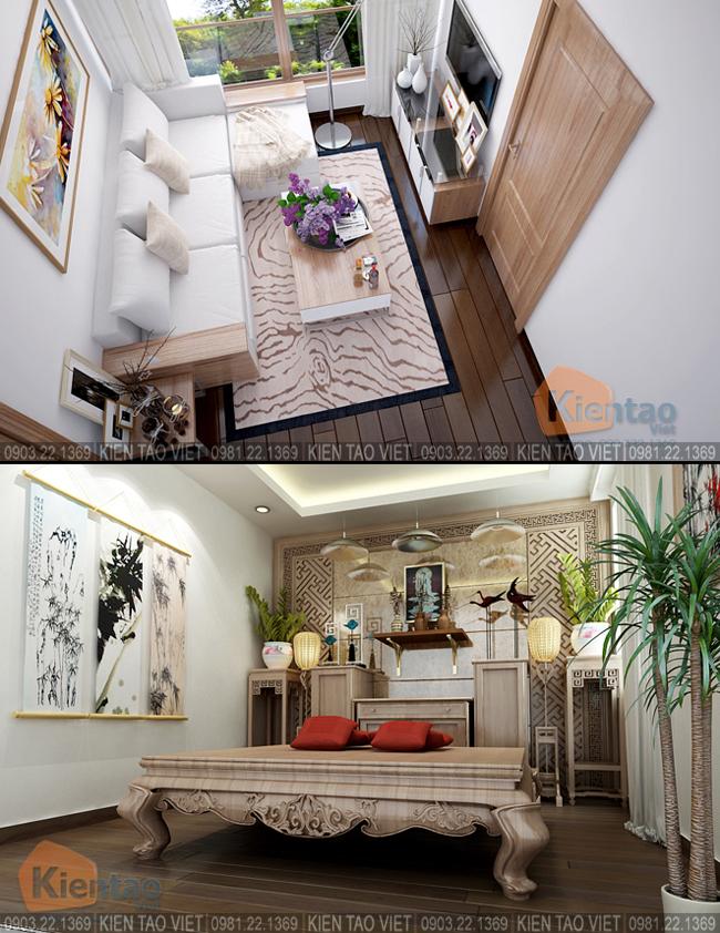 Nội thất phòng SHC+Thờ gia tiên - Mẫu thiết kế nhà biệt thự 4 tầng đẹp hiện đại 8,7x13,5m