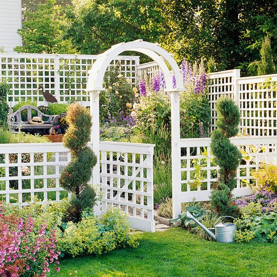 Cổng vườn đẹp - Mẫu biệt thự nhà vườn