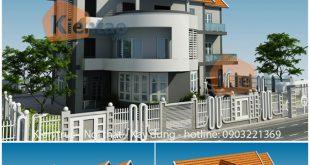 Phối cảnh kiến trúc - Mẫu biệt thự 3 tầng 10x15m hiện đại tại Từ Liêm - BT01