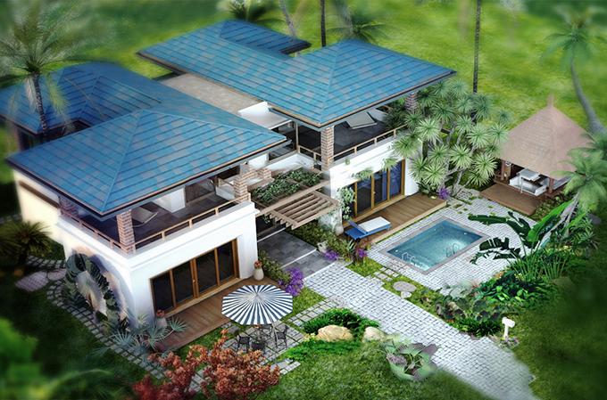 Mẫu biệt thự nhà vườn