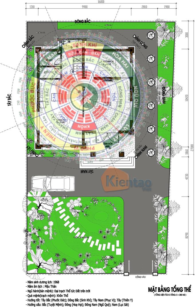 Khuôn viên tổng thể - Mẫu thiết kế nhà biệt thự 3 tầng cổ điển Pháp 110m2 tại Phủ Lỗ -BT02